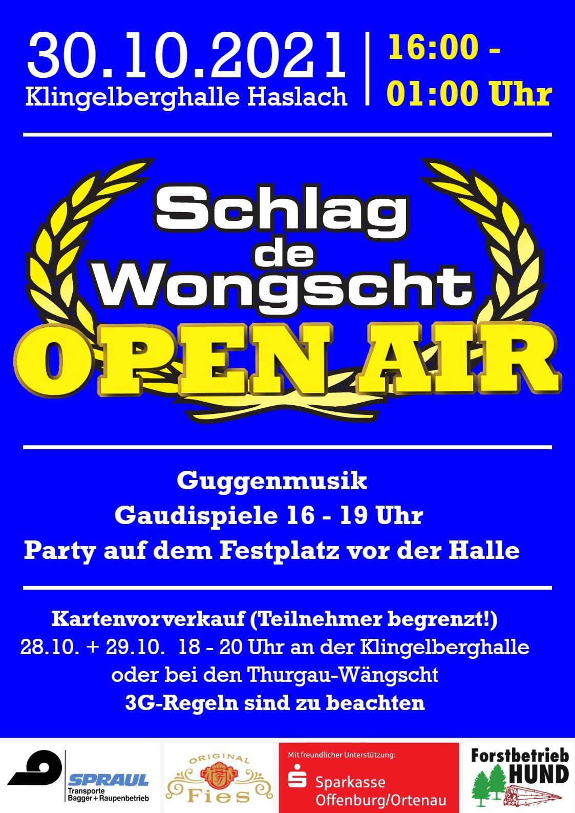 Open Air: Schlag de Wongscht 2021